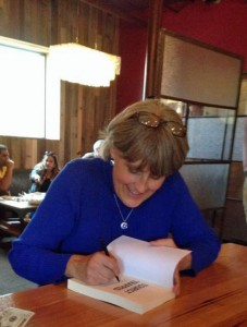 Honored to sign my novel!